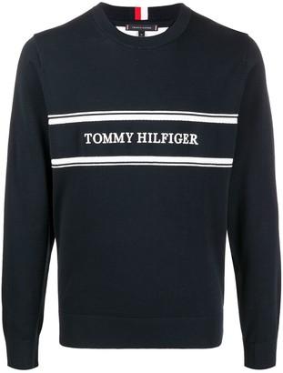 Tommy Hilfiger Logo Intarsia Jumper