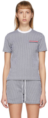 Thom Browne SSENSE Exclusive Navy Striped T-Shirt