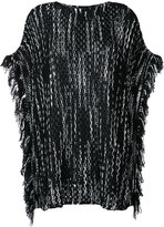 Missoni fringed knitted poncho - women - Nylon/Wool - One Size