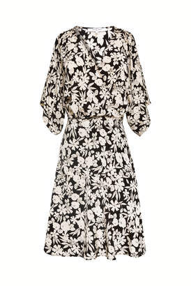 Gerard Darel Short Printed Silk Dress