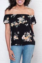 Jacqueline De Yong Frilled Off Shoulder Top