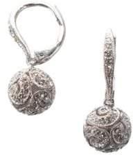 Nadri Pav Swirl Drop Earrings