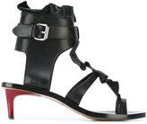 Isabel Marant Ansel ruffel-trimmed sandals - women - Leather - 37