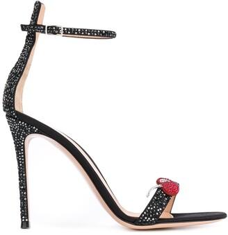 Gianvito Rossi Cherry Portofino sandals