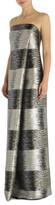 Carla Zampatti Platinum Stripe Celeste Column Gown
