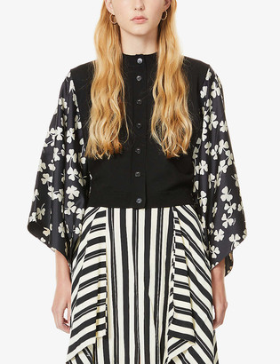 Loewe Shamrock floral-print wool and silk-blend cardigan