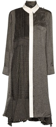 Sacai Panelled Midi Dress