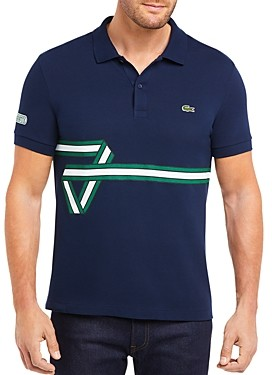 Lacoste Ribbon Striped Regular Fit Pique Polo Shirt