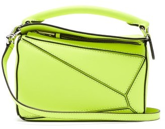 Loewe Puzzle Mini Leather Cross-body Bag - Yellow