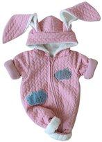 WEHOPS Newborn Baby Boy Girl Winter Zipper Hoodie Romper Warm Long Sleeve Coat Outwear Clothes
