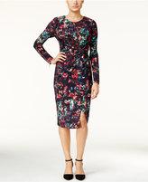 Thalia Sodi Printed Faux-Wrap Dress, Only at Macy's