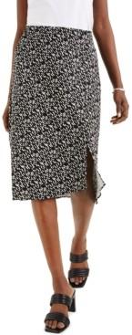Alfani Abstract-Print Midi Skirt, Created for Macy's