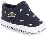 Lacoste Infant Boy's 'Gazon' Print Crib Shoe