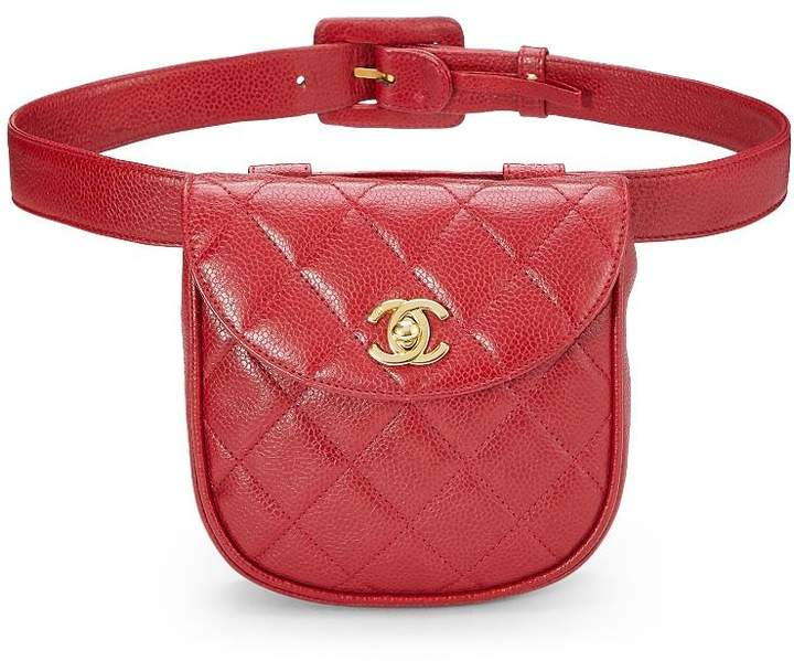 e5e73bc3 Red Quilted Caviar Belt Bag 32