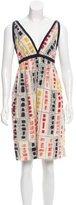 Hache Printed Sleeveless Dress