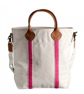 The Well Appointed House Natural Canvas Flight Bag with Pink Accents-Can Be Personalized