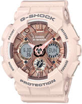 G-Shock Women's Analog-Digital Blush S Peach Resin Strap Watch 46mm GMAS120MF-4A