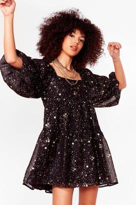 Nasty Gal Womens Star Light Tiered Mini Dress - Black - 4, Black