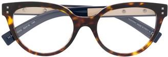 Valentino Eyewear Tortoiseshell Cat Eye Frames