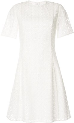 CK Calvin Klein Eyelet Detail Flared Dress