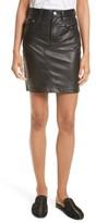 Rag & Bone Women's Dive Leather Pencil Skirt