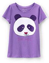 Classic Girls Plus Scallop Edge Graphic Tee-Panda
