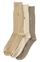 Polo Ralph Lauren Ribbed Crew Socks (3-Pack)