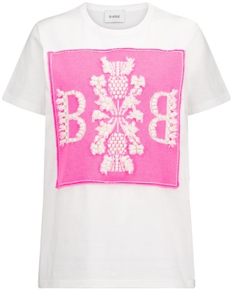 Barrie Embroidered cotton T-shirt