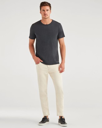 7 For All Mankind Luxe Performance Slim Taper Crop with Clean Pocket in Reid