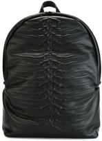 Alexander McQueen spine embossed backpack - men - Cotton/Calf Leather - One Size