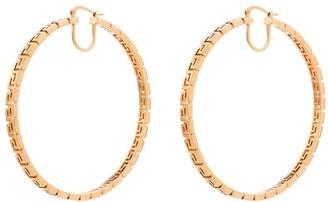 Versace Greca-pattern hoop earrings