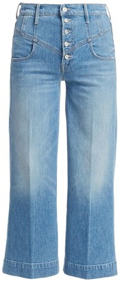Mother The Swooner High-Rise Wide-Leg Roller Yoke Front Jeans