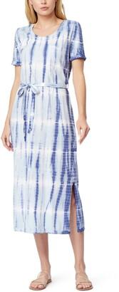 Abigail Tie Dye Belted Midi T-Shirt Dress