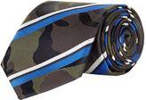 Valentino Garavani Striped Camouflage Silk Tie