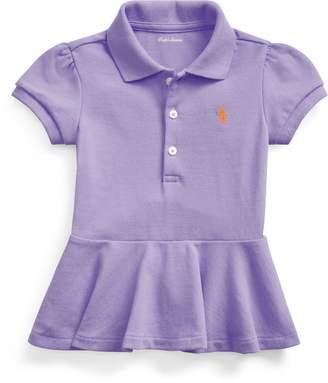 Ralph Lauren Pique Peplum Polo Shirt
