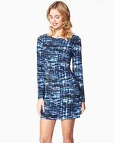 Charming charlie Geo Colors Long Sleeve Dress