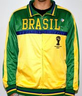 Fifth Sun Brasil Brazil FIFA 2014 World Cup Soccer Embroidered Track Jacket