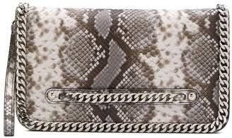 Casadei snakeskin print clutch bag