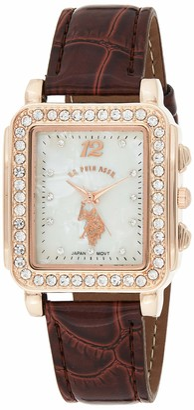 U.S. Polo Assn. Women's USC42014 Analog Display Japanese Quartz Brown Watch