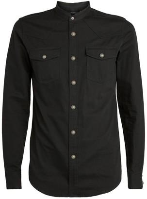 Balmain Cotton Mandarin Collar Shirt