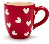 Sur La Table Red and White Hearts Mug