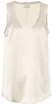 Brunello Cucinelli Exclusive to Mytheresa a Stretch-silk tank top