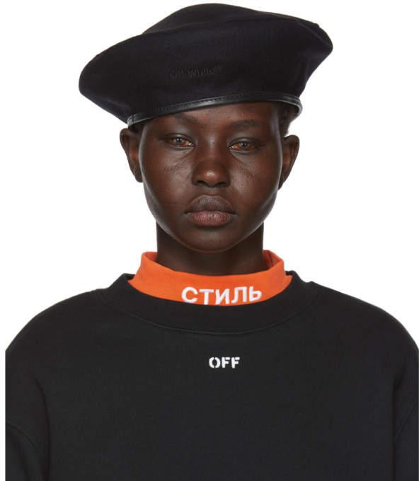 Off-White Off White Black Logo Beret