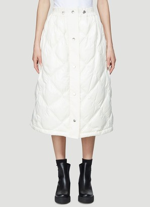 MONCLER GENIUS Moncler Button-Up Quilted Skirt
