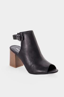 Qupid Haira Slingback Heeled Sandal - Black