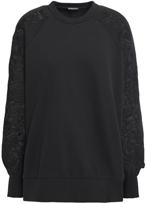 Ann Demeulemeester Embroidered French Cotton-terry Sweatshirt