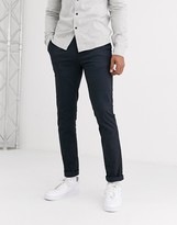 Burton Menswear Big & Tall tapered chinos in navy