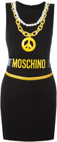 Moschino trompe-l'oeil chain necklace dress - women - Polyester/Triacetate/Viscose - 38