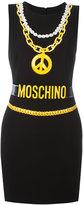 Moschino trompe-l'oeil chain necklace dress - women - Polyester/Triacetate/Viscose - 40