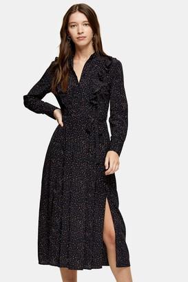 Topshop Womens Ruffle Shirt Dress - Multi